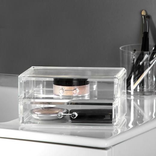 KOSMETIK-ORGANIZER - Transparent, Kunststoff (11,2/9,2/18,8cm)