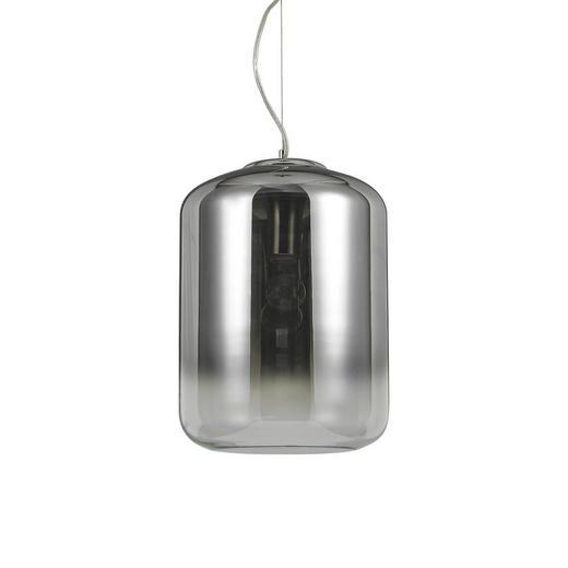Hängeleuchte - Chromfarben/Grau, Design, Glas/Metall (30/50-140cm)