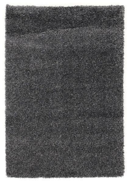 HOCHFLORTEPPICH  80/200 cm  gewebt  Dunkelgrau - Dunkelgrau, Basics, Textil (80/200cm) - Novel