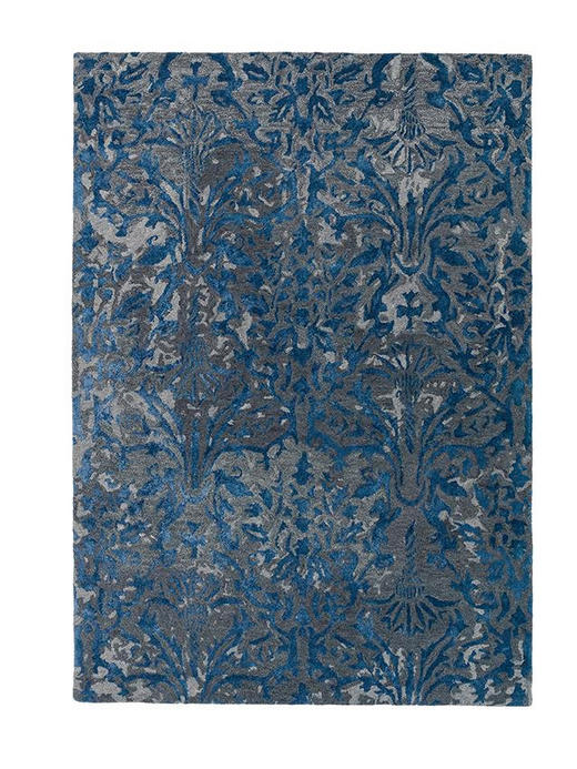 JOOP! ORNAMENT  90/160 cm  Blau, Grau - Blau/Grau, Basics, Textil (90/160cm) - Joop!
