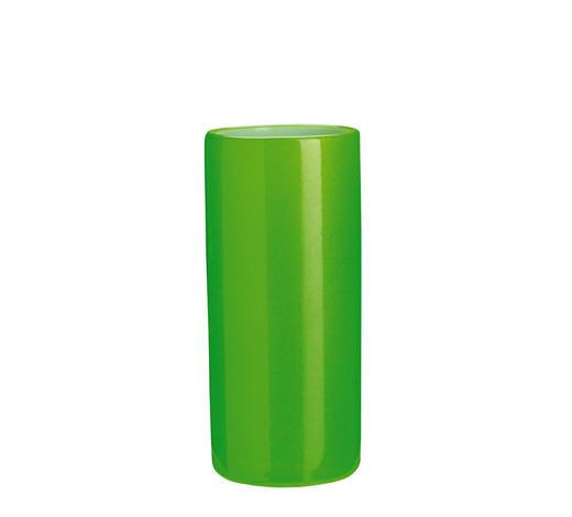 ZAHNPUTZBECHER Keramik - Grün, Basics, Keramik (5,5/10cm) - Kleine Wolke