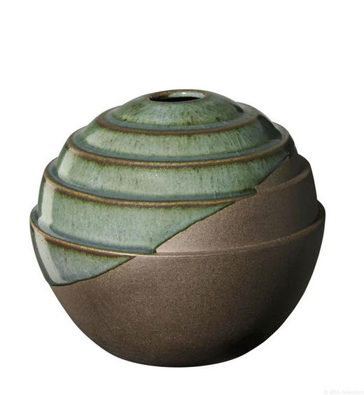 VASE - Braun/Grün, Keramik (14/12cm) - ASA