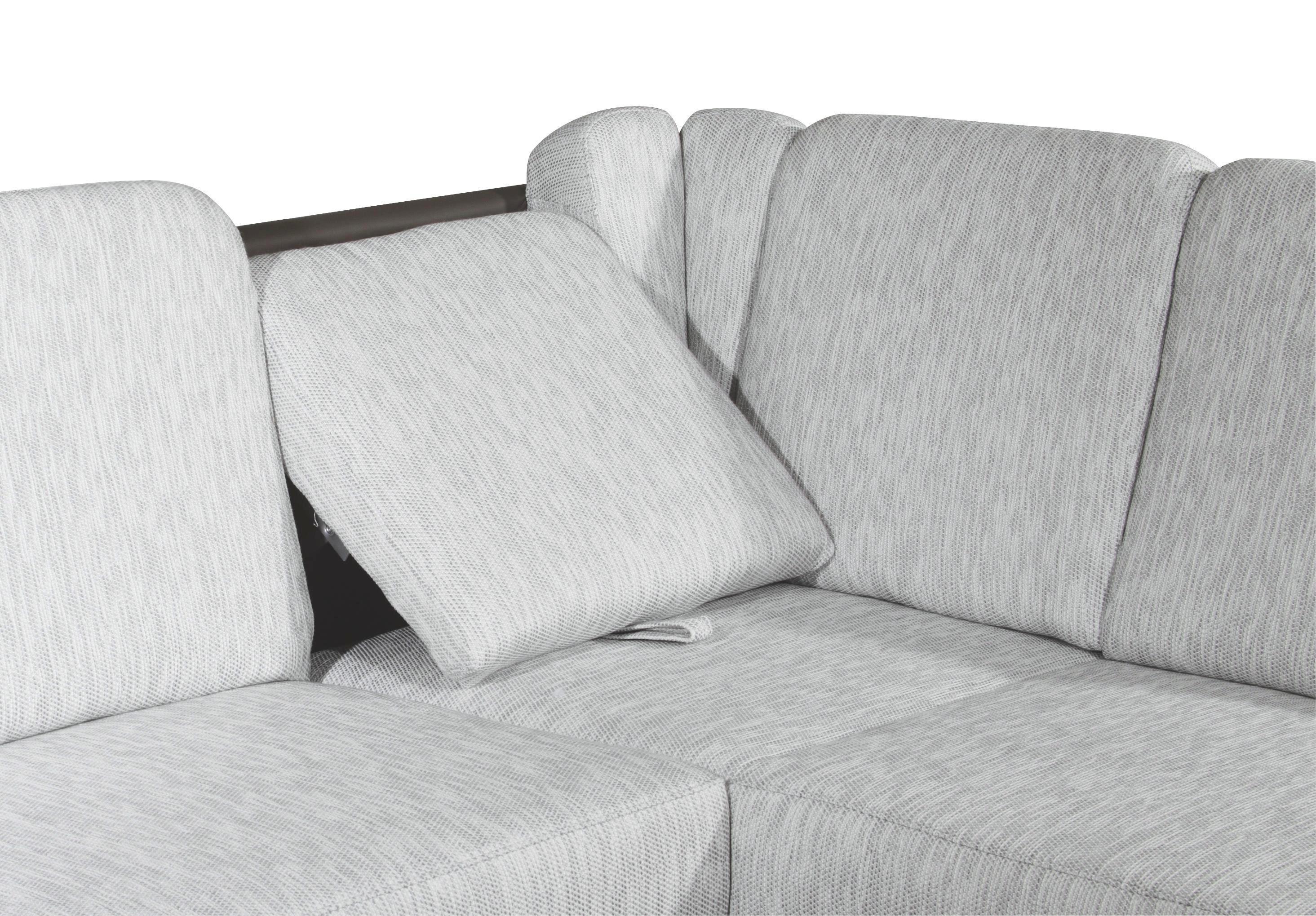 SEDACÍ SOUPRAVA - tmavě hnědá/světle šedá, Konvenční, kov/textil (245/200cm) - XORA