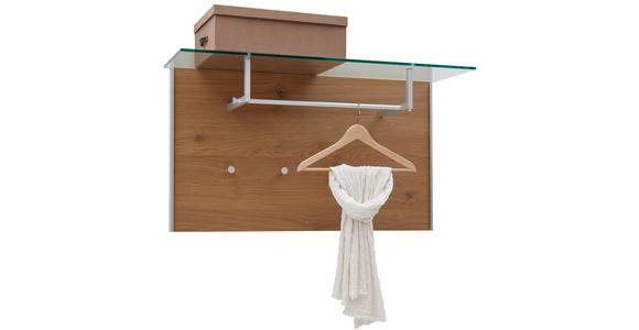 GARDEROBENPANEEL Eichefarben, Alufarben  - Eichefarben/Alufarben, Design, Glas/Metall (105/57/32,5cm) - Dieter Knoll
