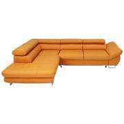 WOHNLANDSCHAFT in Leder Gelb - Chromfarben/Gelb, Design, Leder (235/280cm) - Voleo