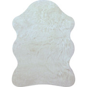 UMĚLÁ KOŽEŠINA - bílá, Natur, textil (80/110cm) - Boxxx