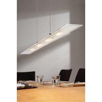 LED-HÄNGELEUCHTE - Nickelfarben, Design, Glas/Metall (80/8/150cm) - Novel