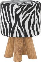 TABURE - bijela/smeđa, Lifestyle, drvo/tekstil (30/45/30cm) - LANDSCAPE
