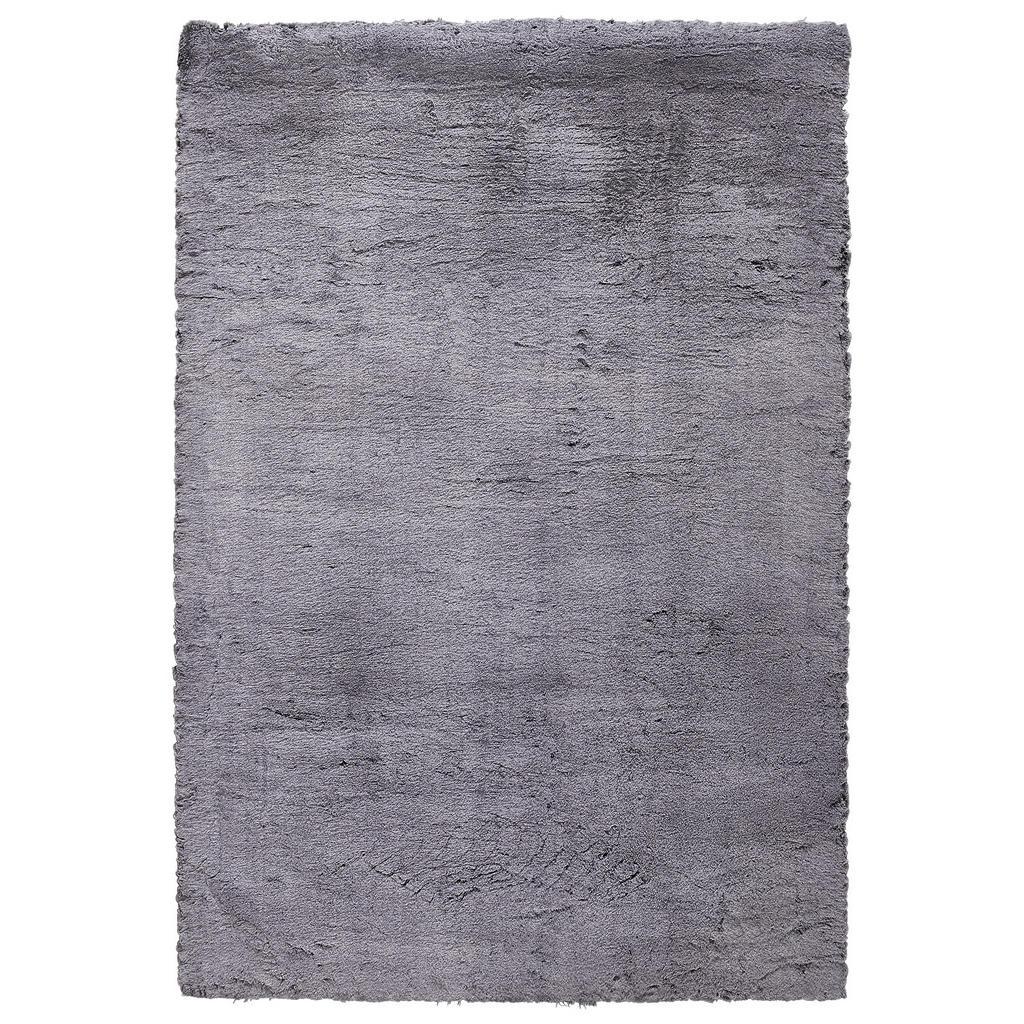 Novel Hochflorteppich 70/130 cm gefärbt grau