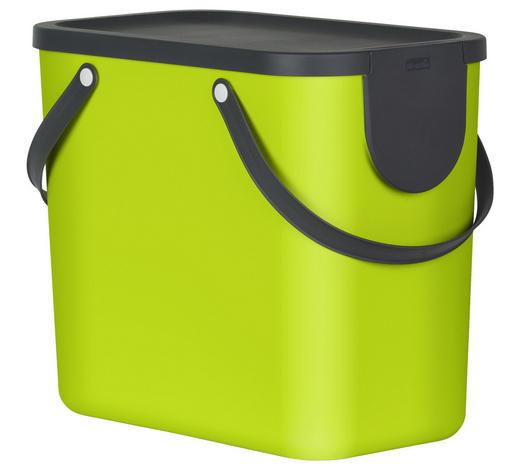 ABFALLSAMMLER 25 L l - Limette, Basics, Kunststoff (40/23,5/34cm) - Rotho