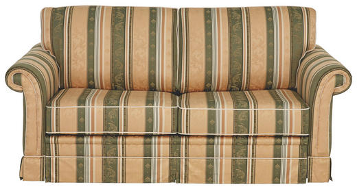 SOFA in Textil Beige, Grün - Beige/Schwarz, LIFESTYLE, Kunststoff/Textil (184/88/90cm) - Elegando