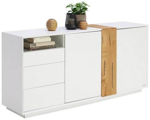 SIDEBOARD - Eichefarben/Weiß, Design, Holz/Holzwerkstoff (160/75/40cm) - Carryhome