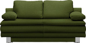 SCHLAFSOFA in Textil Grün  - Chromfarben/Grün, Design, Textil/Metall (194/96/86cm) - Novel