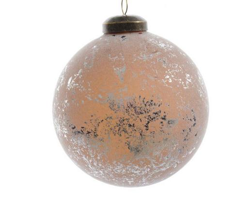 CHRISTBAUMKUGEL-SET  12-teilig Sandfarben - Sandfarben, Basics, Glas (8cm)