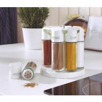 GEWÜRZKARUSSELL - Weiß, Basics, Glas/Kunststoff (17.8/17.8/18.5cm) - Emsa