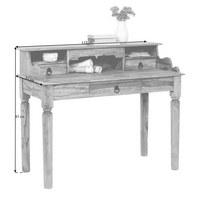 SEKRETÁŘ, sheesham, masivní, přírodní barvy - tmavě šedá/přírodní barvy, Trend, kov/dřevo (115/97/57cm) - Ambia Home