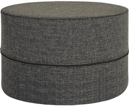 HOCKER Flachgewebe Dunkelgrau - Dunkelgrau, Design, Textil (62/40cm) - Innovation