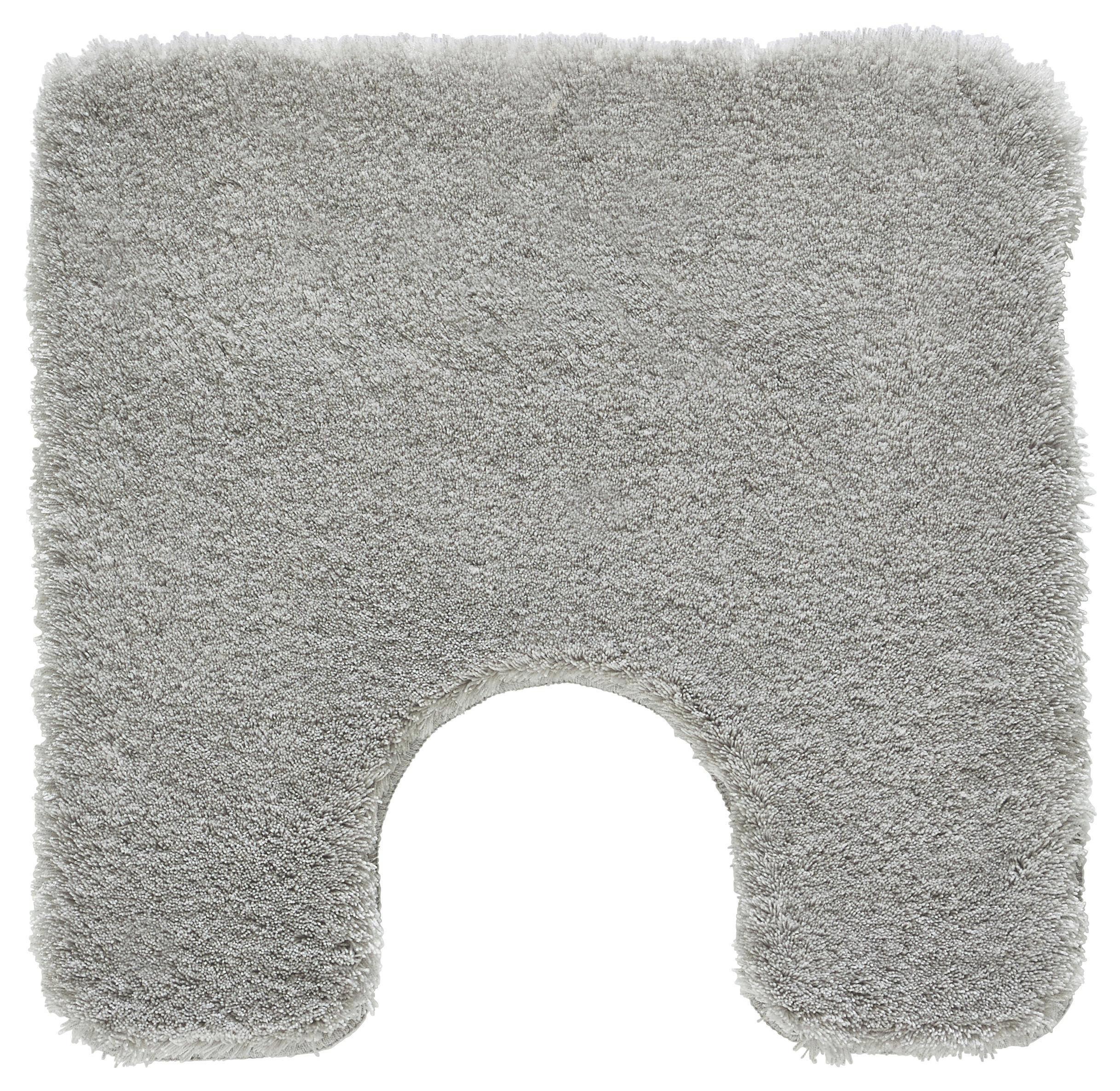 WC-VORLEGER  Grau  55/55 cm - Grau, Basics, Kunststoff/Textil (55/55cm) - KLEINE WOLKE