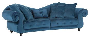 MEGASOFA in Textil Petrol  - Petrol, Design, Holz/Textil (288/100/110cm) - Carryhome