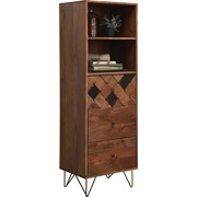 KOMMODE 50/153/43 cm - Messingfarben/Bronzefarben, Trend, Holz/Metall (50/153/43cm) - Ambia Home