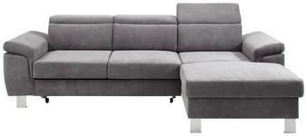 WOHNLANDSCHAFT in Textil Grau  - Silberfarben/Grau, Design, Textil/Metall (250/167cm) - Xora