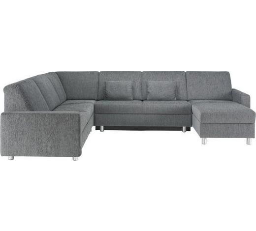 WOHNLANDSCHAFT in Textil Grau - Alufarben/Grau, KONVENTIONELL, Kunststoff/Textil (252/323/158cm) - Sedda