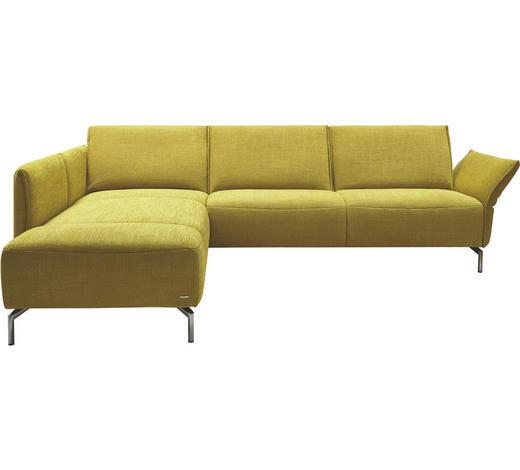 WOHNLANDSCHAFT Gelb  - Edelstahlfarben/Gelb, Design, Textil/Metall (207/274cm) - Koinor