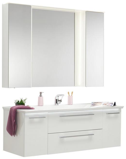 BADEZIMMER - Weiß, Design, Glas/Holzwerkstoff (141,2cm)
