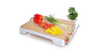 DESKA ZA REZANJE 4685260 - bela, Konvencionalno, umetna masa/les (37,5/30,5/5,2cm) - Tomorrow's Kitchen