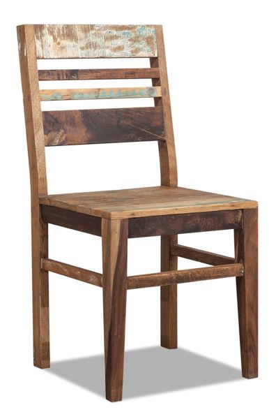 STUHL Recyclingholz massiv Multicolor - Multicolor, LIFESTYLE, Holz (45/95/45cm) - LANDSCAPE