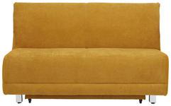 SCHLAFSOFA in Textil Gelb  - Chromfarben/Gelb, MODERN, Textil/Metall (145/90/96cm) - Novel
