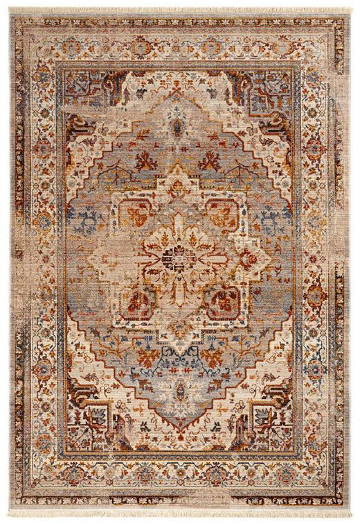 VINTAGE-TEPPICH  120 153  cm  Beige, Grau, Rostfarben - Rostfarben/Beige, LIFESTYLE, Textil (120 153 cm) - Esposa