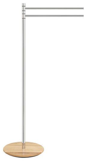 HANDDUKSHÅLLARE - kromfärg/askfärgad, Basics, metall/trä (68cm)