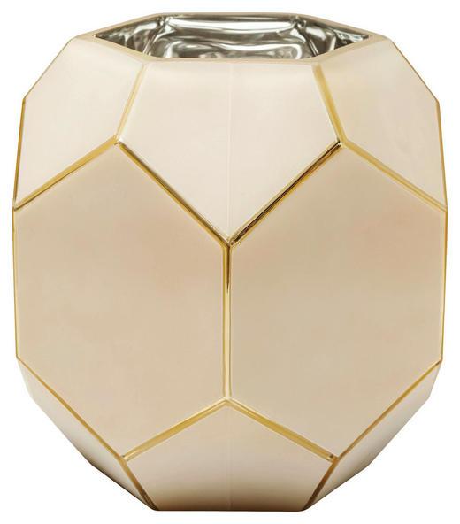 VASE Creme, Goldfarben - Goldfarben/Creme, Trend, Glas (23/22/23cm) - Kare-Design