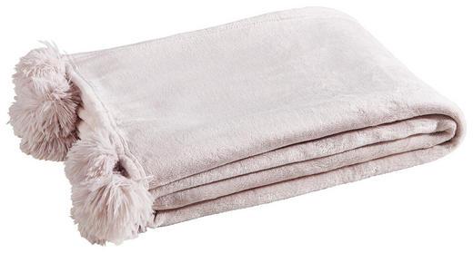 PLAID MIT POMPOM'S Creme - Creme, Trend, Textil (170/130/1cm)