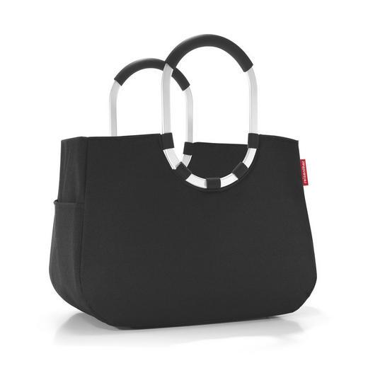 LOOPSHOPPER L BLACK - Schwarz, Basics, Textil/Metall (46/0,35/25cm) - Reisenthel