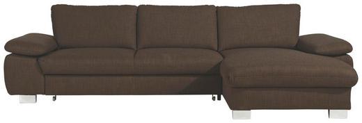 WOHNLANDSCHAFT - Alufarben/Braun, Design, Textil/Metall (316/184cm) - Beldomo System