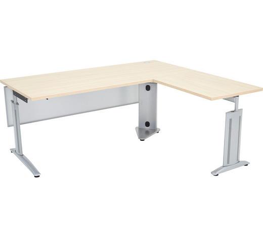 ECKSCHREIBTISCH - Eichefarben, Design, Holzwerkstoff/Metall (180/68-82/160cm)