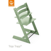 TRIPP TRAPP HOCHSTUHL Buche Hartholz, massiv Moss Green - Apfelbaumfarben/Mintgrün, Basics, Holz (46/79/49cm) - STOKKE