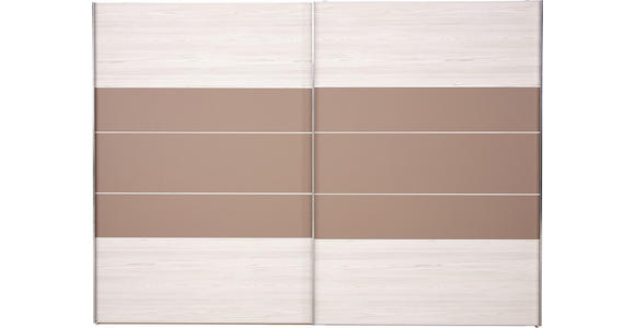 SCHWEBETÜRENSCHRANK in Lärchefarben, Sahara - Chromfarben/Lärchefarben, KONVENTIONELL, Holzwerkstoff (300/217/68cm) - Voleo