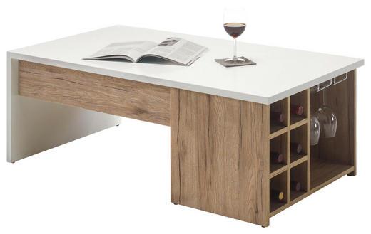 COUCHTISCH rechteckig Eichefarben, Weiß - Eichefarben/Weiß, Design (110/60/41,5cm) - Carryhome