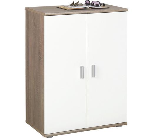 KOMMODE 60/82/35 cm  - Eichefarben/Silberfarben, KONVENTIONELL, Holzwerkstoff/Kunststoff (60/82/35cm)