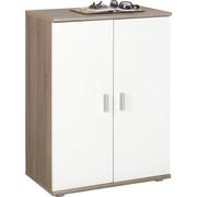 KOMODA - bílá/barvy stříbra, Konvenční, dřevěný materiál/umělá hmota (60/82/35cm)