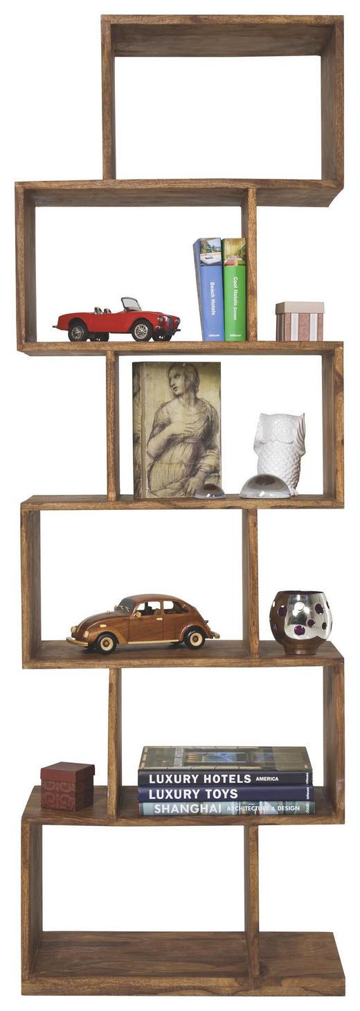 REGAL Sheesham massiv Sheeshamfarben - Sheeshamfarben, Design, Holz (60/180/30cm) - Kare-Design