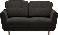 ZWEISITZER-SOFA in Textil Dunkelbraun - Dunkelbraun, Design, Holz/Textil (154/90/93cm) - Hom`in