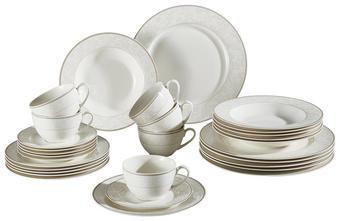 Fine China  KOMBISERVICE 30-teilig - Beige/Weiß, Basics, Keramik - Ritzenhoff Breker