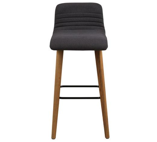 BARHOCKER in Holz, Textil Anthrazit, Eichefarben  - Eichefarben/Anthrazit, Design, Holz/Textil (44/101/47cm) - Carryhome