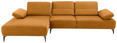 WOHNLANDSCHAFT in Textil Hellbraun  - Hellbraun/Beige, Design, Textil/Metall (178/298cm) - Valnatura