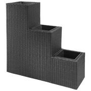 BLUMENTREPPE - Schwarz, Basics, Kunststoff/Metall (90/30/85cm) - Ambia Garden