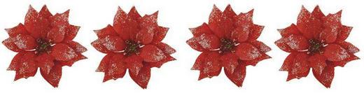 Dekoclip-Set 4-tlg. - Rot, Kunststoff/Metall (11/5cm)